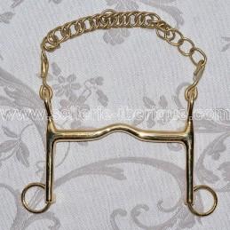 Mors de bride Lhotte en cyprium (doré)