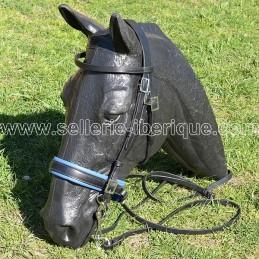 "Snaffle portuguese bridle PEDRO LOPES ""classic recta"" pull-back noseband"