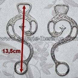 Real Escuela ornamented hackamore shanks (pair)