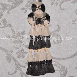 Mosquero crins - noir et blanc