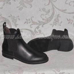 Boots cuir avec élastique