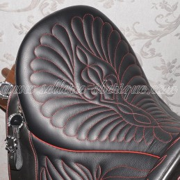 Option seat floral stitching