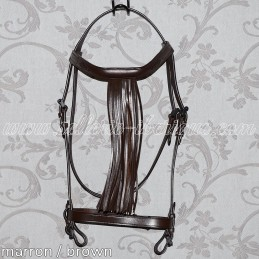 Snaffle bridle vaquera with...
