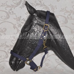 Nylon halter navy blue