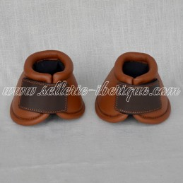 Leather bell boots with...