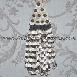 Fly fringe silk - grey