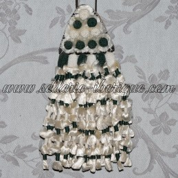 Mosquero soie - vert et blanc