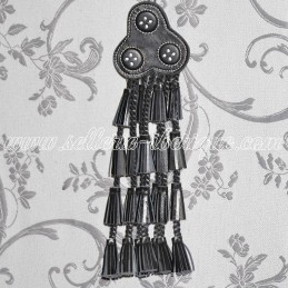 Fly fringe leather - black