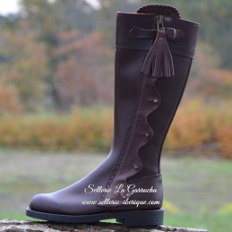 """Leather tall boots """"Jerez""""..."""