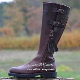 "Leather tall boots ""Huelva""..."
