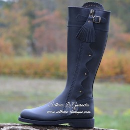 """Leather tall boots """"Jerez..."""