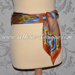Ceinture fine en cuir pour foulard