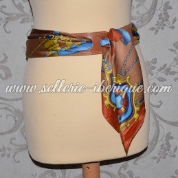 Leather thin belt for scarf
