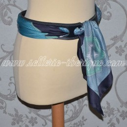 Leather thin belt for scarf...