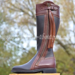 """Leather tall boots """"Lucena"""""""