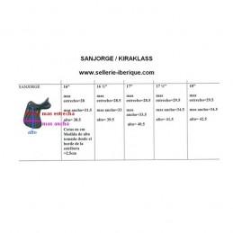 Dressage saddle Sanjorge half-deep seat Zaldi