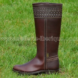"Leather tall boots ""Cartujano"" Valverde del Camino"