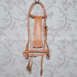 Braided snaffle bridle vaquera without throatlatch Gomez