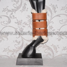 Rear leg boots leather and sheepskin Zaldi
