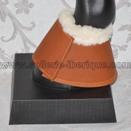 Bell boots leather and synthetic sheepskin Zaldi