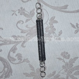 Curb chain with leather guard