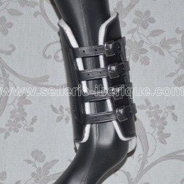 Leather leg boots with buckles Pedro Lopes