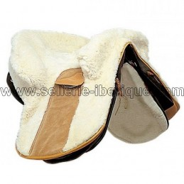 Natural sheepskin zalea for iberian saddle Zaldi