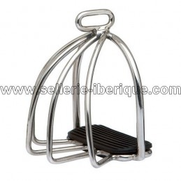 Classic safety stirrups stainless steel (camargue kind)