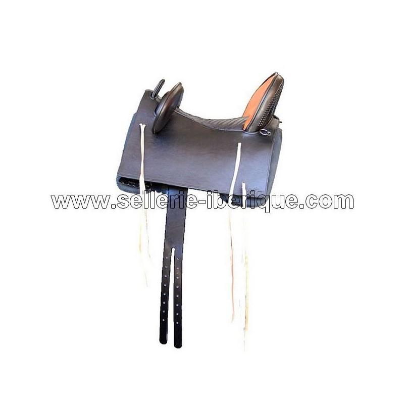 "Vaquera combined saddle ""Pablo Hermoso de Mendoza"" leather seat Gomez"