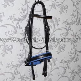 "Snaffle bridle portuguese PEDRO LOPES ""classic recta"" pull-back noseband"