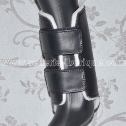 Leather leg boots with velcro Pedro Lopes