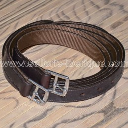 Classical leather & nylon stirrups