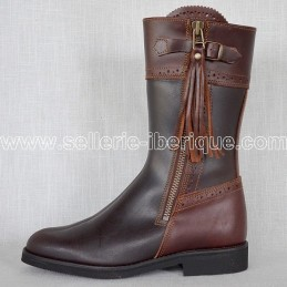 """Leather half tall boots """"Linares"""""""