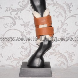 Front leg boots leather and synthetic sheepskin Zaldi