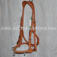 English classical weymouth and snaffle bridles