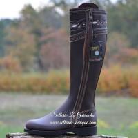 boots, chaps, spurs